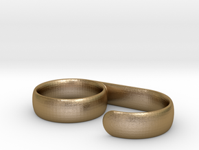 Grip Ring in Polished Gold Steel