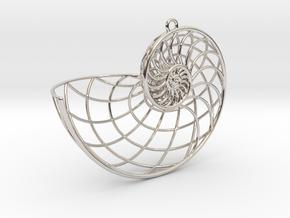 Nautilus Pendant in Platinum