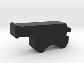 Game Piece, Ship's Cannon, Wheeled in Black Natural Versatile Plastic