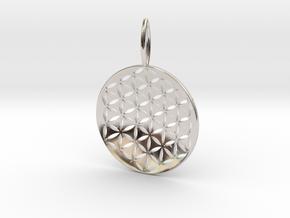 Flower Of Life Pendant Cosmic Jewelry in Platinum