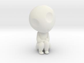 Kodama Pose3 - Princess Mononoke in White Natural Versatile Plastic