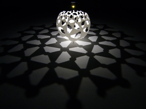 (4,4,2) triangle tiling (stereographic projection) in White Natural Versatile Plastic
