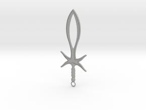 Dagger Pendant in Aluminum