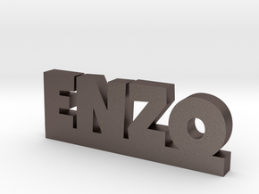 ENZO Lucky in Polished Bronzed Silver Steel