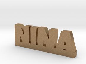 NINA Lucky in Natural Brass