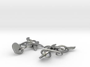Kotomi Earrings in Natural Silver (Interlocking Parts)