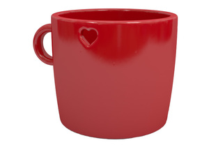 Espresso cup in Gloss Red Porcelain