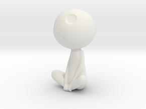 Kodama Pose5 Princess Mononoke  in White Strong & Flexible