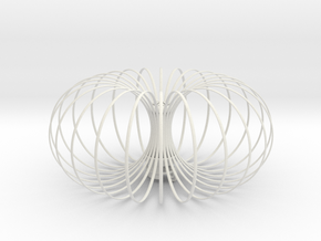 Torus Chandelier pendant lamp 30cm in White Natural Versatile Plastic