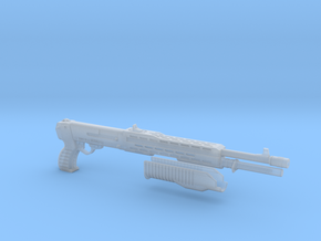 SPAS 12 1:4 scale shotgun with moveable pump in Frosted Ultra Detail