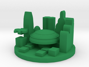 Game Piece, Galactic Capital in Green Processed Versatile Plastic