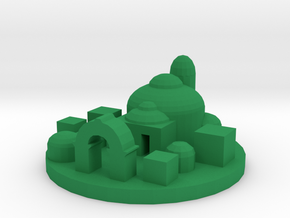 Game Piece, Royal Capital in Green Processed Versatile Plastic