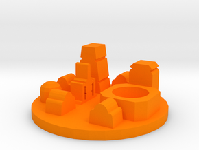 Game Piece, Desert Spaceport in Orange Processed Versatile Plastic