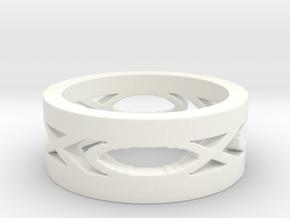 Men's Fish Ring in White Processed Versatile Plastic