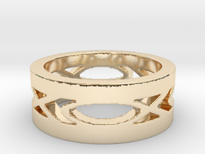 Men's Fish Ring in 14k Gold Plated Brass