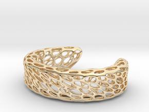 Voronoi Bracelet B in 14K Yellow Gold
