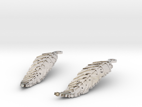 Ash Leaf Earrings in Rhodium Plated Brass
