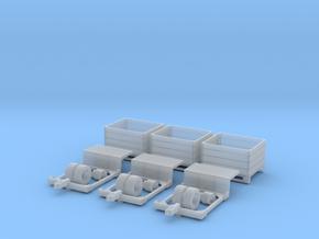H0 1:87 Ernteanhänger für Kleintraktor in Smooth Fine Detail Plastic