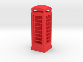 EP726 K6 Phone Box  in Red Processed Versatile Plastic