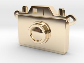 Vintage Film Camera Pendant - Modern Locket in 14k Gold Plated Brass