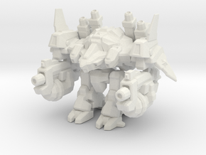 1/350 Terran Super Robot Odin in White Natural Versatile Plastic