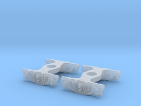 N Scale UP Friction Bearing Q TRUCK 2PK in Smoothest Fine Detail Plastic