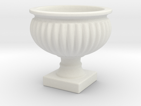 Planter Urn Hollow Form 2017-0010 various scales in White Natural Versatile Plastic: 1:24