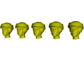 1/72 scale Star Wars rebel trooper heads x 5 in Smoothest Fine Detail Plastic