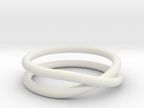 rollercoaster - internal ring in White Natural Versatile Plastic: 5 / 49