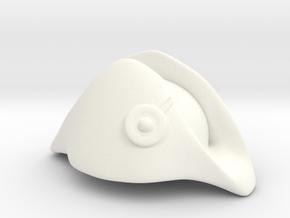Austrian Bicorne in White Processed Versatile Plastic