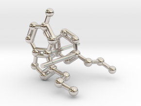 Serotonin & Dopamine Earrings in Platinum