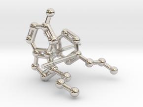 Serotonin & Dopamine Earrings in Rhodium Plated Brass