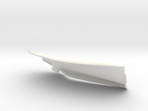 Lancia Delta Abdeckung Heckklappe Boot Plate (L) 2 in White Processed Versatile Plastic