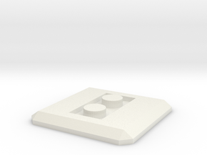 LEGO Conversion base plate (square) in White Natural Versatile Plastic