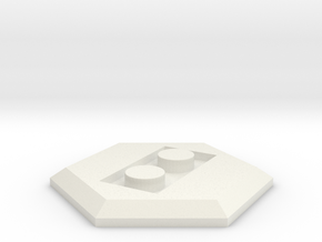 LEGO conversion baseplate (hex) in White Natural Versatile Plastic