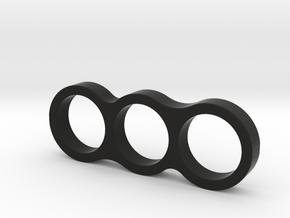Bispinner Hand/Fidget Spinner in Black Natural Versatile Plastic