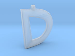Distorted Letter D in Smooth Fine Detail Plastic