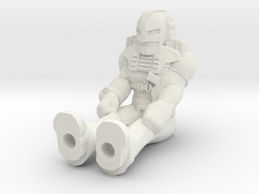 Cliff Dagger, Sitting, 35mm Mini in White Natural Versatile Plastic