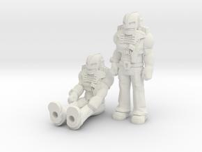 Cliff Dagger 2-pack, 35mm Minis in White Natural Versatile Plastic