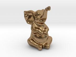 Happy Elephant in Natural Brass