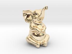 Happy Elephant in 14K Yellow Gold