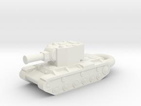 KV-2 Heavy Tank KEYCHAIN in White Natural Versatile Plastic