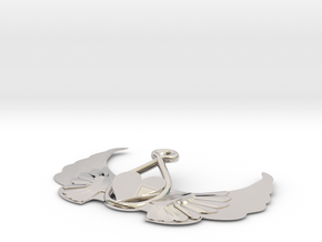 Heart-on-wings-1 in Rhodium Plated Brass