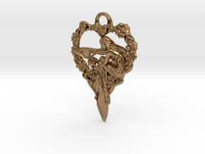 Maiden-of-the-heart-pendant-valentines-comp-entry- in Natural Brass
