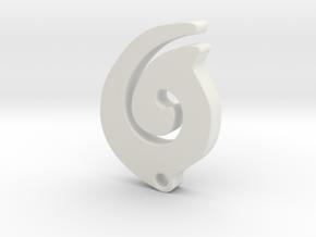 Maori Necklace in White Natural Versatile Plastic