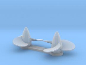 U Boat VIIc Propellers in Smoothest Fine Detail Plastic