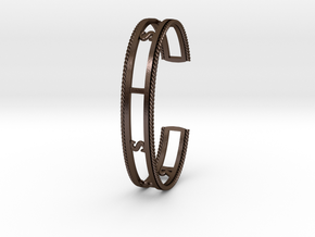 RESIST Cuff (Large) in Steel and Nylon in Polished Bronze Steel