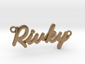 "Name Pendant - ""Rivky"" in Natural Brass"