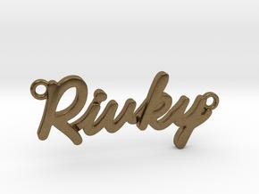 "Name Pendant - ""Rivky"" in Natural Bronze"