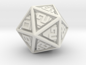 RATTLERS - Floating D20 in White Strong & Flexible